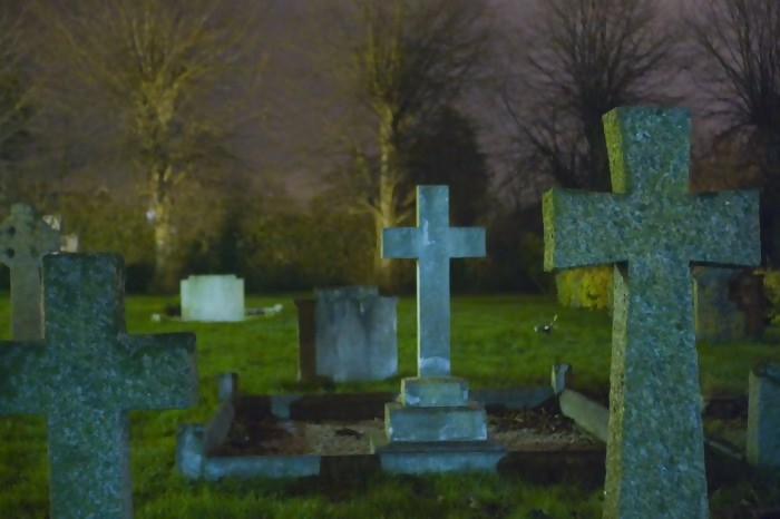 tombstones at the cemetery