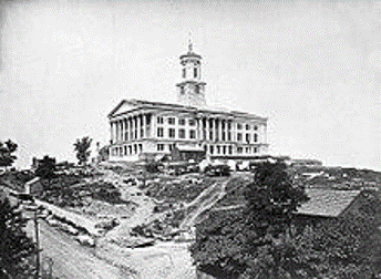 an old photo of the tennessee state capitol building