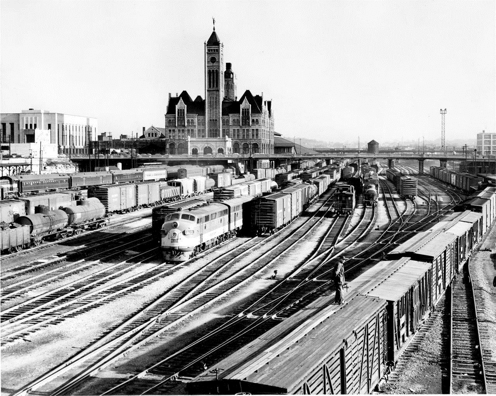 trains at the station